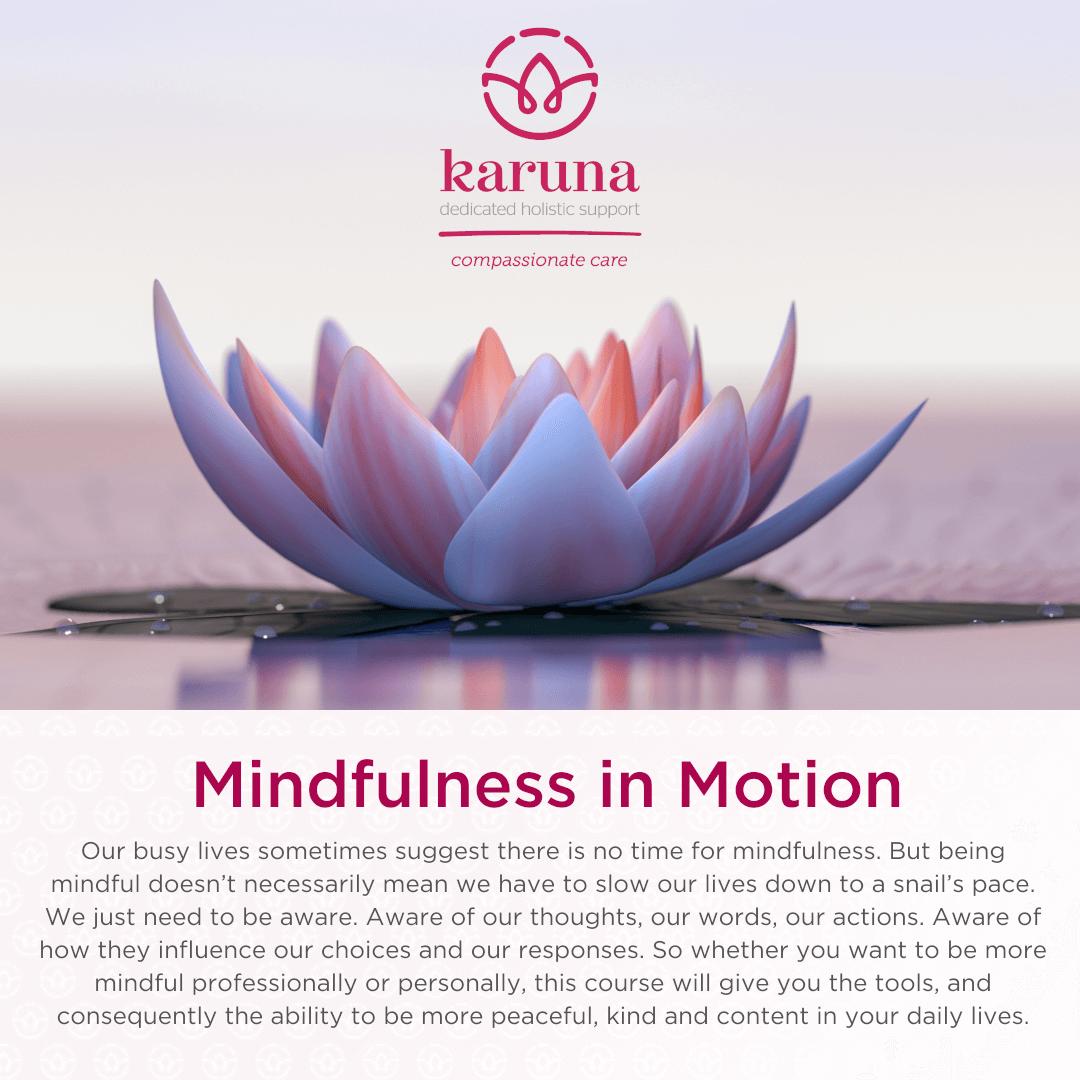 Mindulness in Motion - Karuna Workshop
